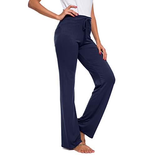 TownCat Pantaloni della Tuta da Donna, con Coulisse, per Yoga, Corsa, Jogging (Marina Militare, XXL)