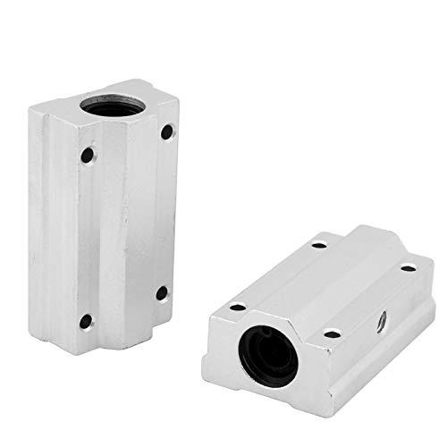 Jeanoko Bloque Deslizante de rodamiento ranurado de 2 Piezas Herramienta de Aluminio de 8 mm para Impresora 3D para CNC