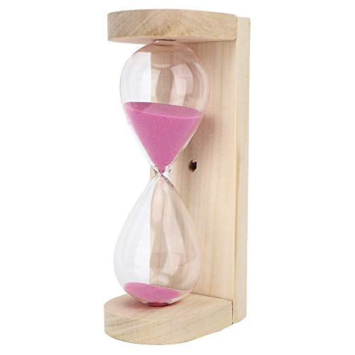 Wall Mounted Sand Timer 15 Minutes Unique Shape Sand Clock Hourglass Timer Timing Sand Clock for Sauna Games Classroom Home Sauna AccessoriesPink