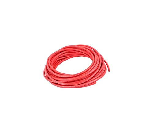 22AWG 40KV Electric Copper Core Flexible Silicone Wire Cable Red 10M 32.8Ft