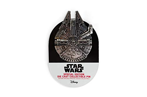Official Star Wars Millennium Falcon Special Edition Collector Pin - Die Cast Metal - 3x2.15-Inch Unique Collectible for Lapel, Backpack, Purse, Clothes - Fan Accessories - Licensed Disney Merchandise