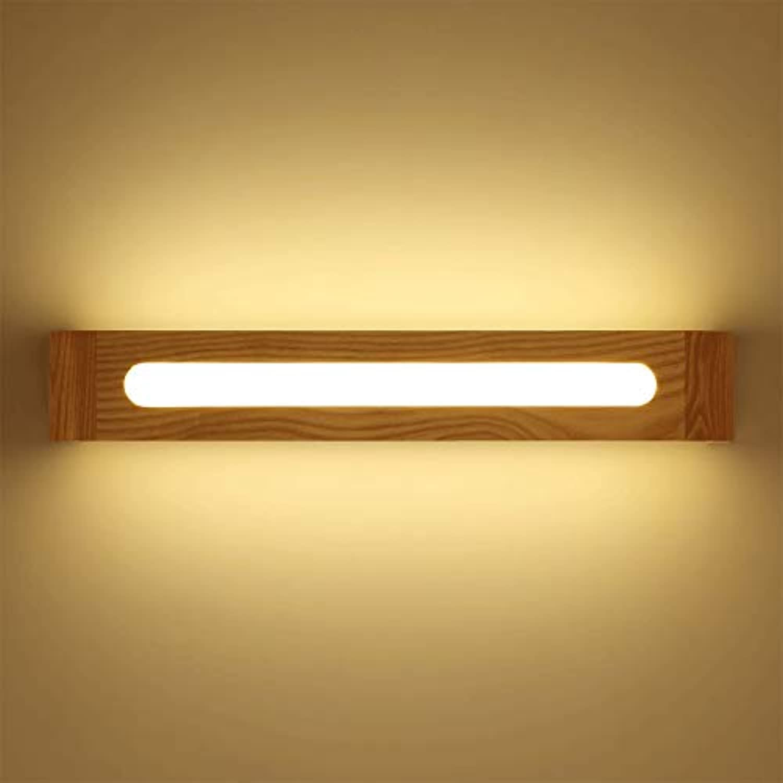 Chuen Lung Kreative japanische badezimmer licht, LED Spiegel Frontlampe Bild Make-Up Beleuchtung Holz Badezimmer Wandleuchte Spiegellicht (Farbe   Weies Licht-40CM)