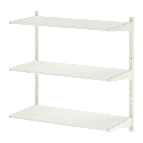 IKEA ALGOT -muur rechtop / planken wit - 85x40x84 cm