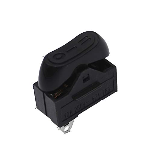 Kfdzsw Micro Interruptor Interruptor de secador de Pelo de 4 PCS, Interruptor de balancín, 3 Posiciones en el Interruptor de Barco (Color : Black)