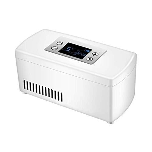 Preisvergleich Produktbild Mini-Kühlschränke Insulin-Kühlbox Home Car Refrigeration Wiederaufladbare Smart Small Refrigerator Tragbare tragbare Interferon-Medikamente (Farbe: Weiß,  Größe: 21 * 10 * 9, 5 cm)