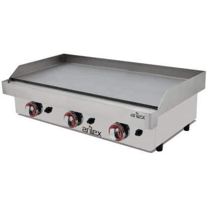 Plancha a gas ARILEX en acero rectificado de 15 mm con medidas 810x457x240h mm 80PGR