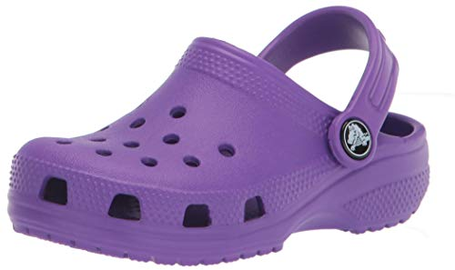 Crocs Classic Clog, Zuecos Unisex Niños, Neon Purple, 33-34 EU