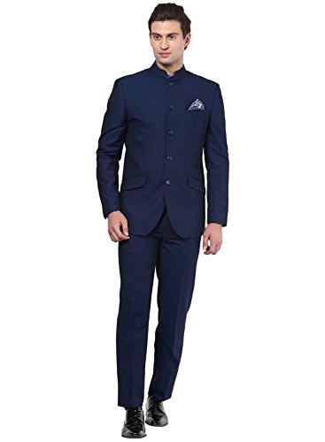 Kurta Herren Anzug Nehru Grandad Kragen, ideal für Hochzeiten, Schwarz Gr. 112 cm Jacke , marineblau