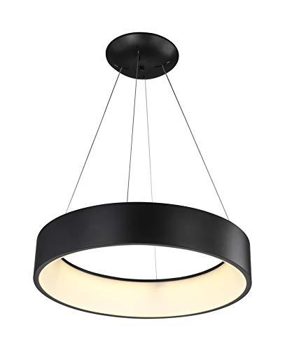 Wofi LED Pendelleuchte PURE, 1-flammig, 36 W, 3300lm, Warmweiß, Schwarz