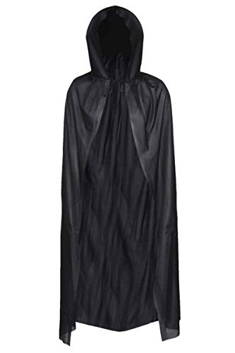 Redstar Fancy Dress - Capa Unisex con Capucha - para Adultos - Ideal para Halloween - Negro