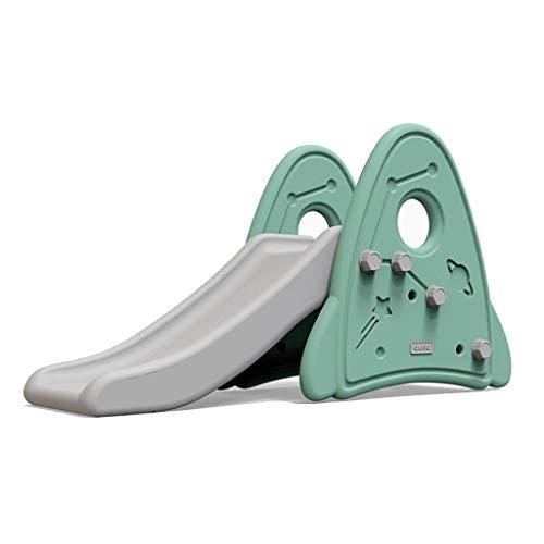 Toboggans pour Enfants Petits d'intérieur pour Enfants Petits Jouets multifonctionnels épais très sûrs et en Bonne santé ne feront Pas Mal au bébé (Color : Green, Size : 121 * 34 * 67.2cm)