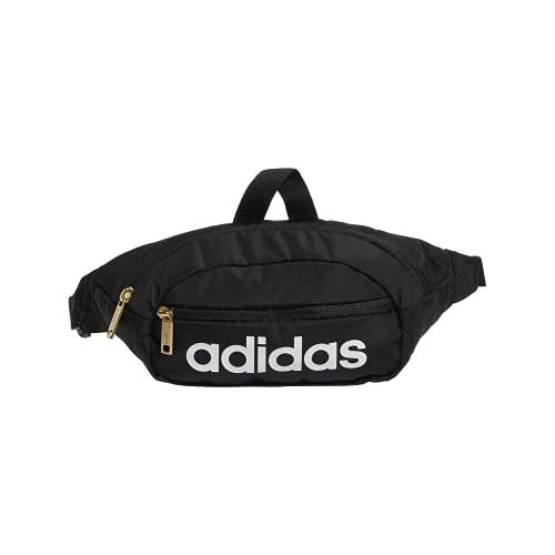 adidas Unisex Core Waist Pack,Black/White/Gold Metallic, One Size