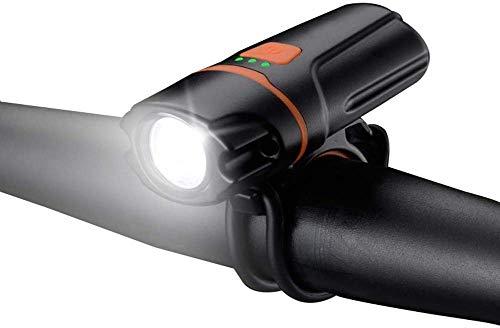 ZHENG Luces Bicicleta Bike Front Lights USB Recargable, Accesorios de iluminación for Montar por la Noche/Camping, Negro
