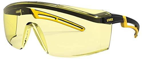 Uvex Arbeitsschutzbrille/Bügelbrille 9164 astrospec 2.0, gelb/schwarz, Scheibe: amber, 2-1,2