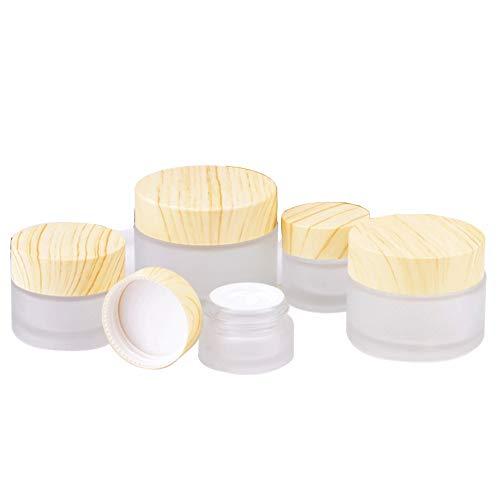 Amorar 10 Pièces Contenants cosmétiques Vide Pot de Crème avec Couvercle Bouteille de Pommade Crème Lotion Pot de Maquillage Mini conteneur pour Baume à lèvres Nail Art, Poudre