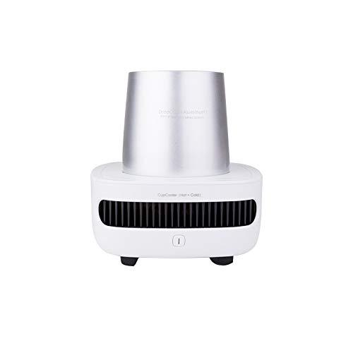 Calentador De Leche Inteligente, Calentador De Tazas De Café, Enfriador De Tazas Rápido De Refrigeración Portátil, 12V / 3A, Mini Refrigerador De Oficina, Control De Un Botón,Plata