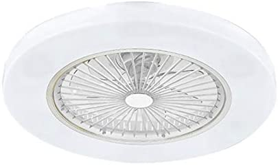La Velocit/à Vento Regolabile /Ø55cm Dimmerabili Telecomando ,Bianca 72W Creativa Moderna Ultra-Silenziosa Ventola Lampada Da Letto Soggiorno Ventilatore A Soffitto Con Illuminazione Luce Del Led