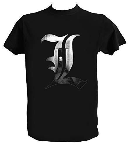 Generico T Shirt Death Note Shinigami Uomo Bambino Light Yagami Maglietta Anime Manga Giapponesi, Bambino 9-11Anni