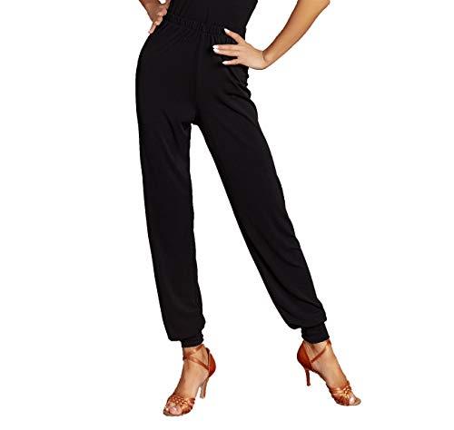 SCGGINTTANZ G4034 Latin Latein Moderne Tanz professionelle straffe Manschette Design und lose Version Hose ((FBA) Black, XL)