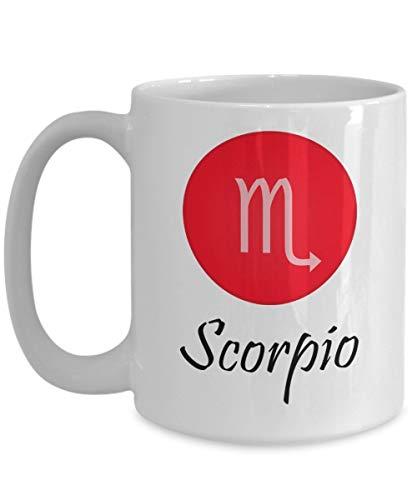 N\A Sorpresa Hombre y Mujer Escorpio - Regalos para Escorpio - Taza de café astrológica - Tazas del Zodiaco - Taza Blanca de 11 onzas - Escorpio