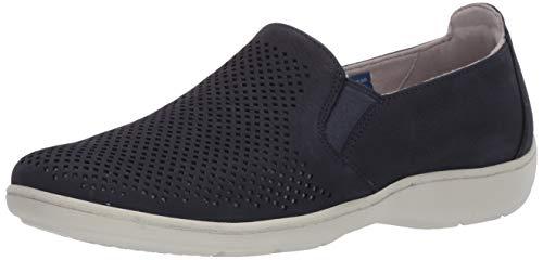 Aravon womens Lia Slipon Sneaker, Blue, 11 Narrow US