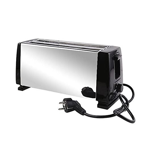 WEFH Tostadora para sándwich de 1 Pieza, tostadora multifunción para máquina de Desayuno, 4 rebanadas, Color Negro
