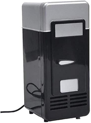 YYhkeby Mini Frigorifero con Freezer Piccolo Mini frigo Portatile per Camera da Letto da Camera da Letto USB Coca Cola Mini frigo Jialele (Color : Black)