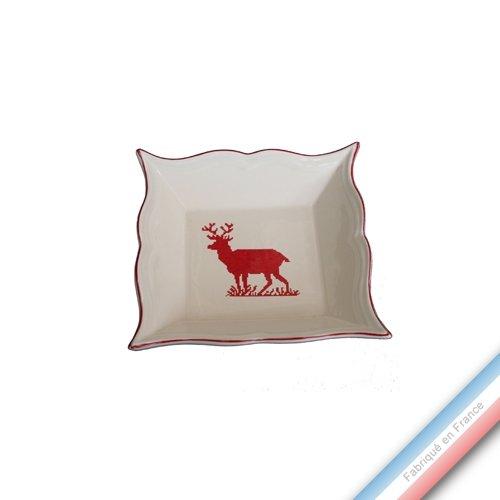 Niderviller 1735 Collection Montagne Rouge - Vide Poche Carre - 12 x 12 cm - Lot de 1