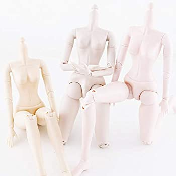 WellieSTR 3 pcs 60cm 24inch Movable Joints BJD Dolls Body,Female Naked Nude Doll Body with Shoes Accessories Dolls Toy