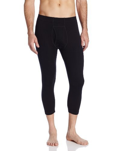 Minus33 Merino Wool Men's Tecumseh Midweight 3/4 Bottom, Black, Medium by Minus33 Merino Wool