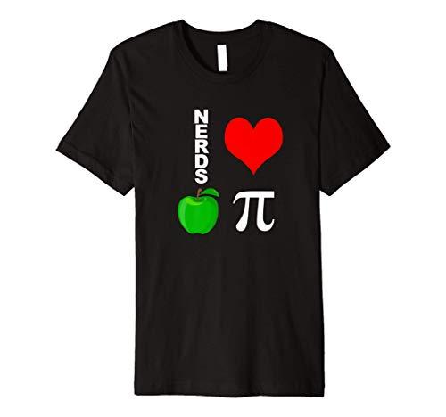 Nerds Love Apple Pi Funny Math Pun Pi Teacher Premium T-Shirt