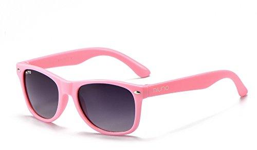Miuno® Kinder Sonnenbrille für Jungen und Mädchen Etui 2688 (Rosa)