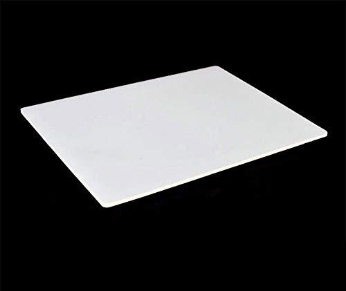 [1 Stück] Hitzebeständige Silikonmatte Hitzebeständige 100% Rutschfeste Silikonplatten Schutzmatten Klar und Haltbar Geeignet für Wartungsarbeiten Werkbank/Flash Butt Schweißen-Transparent Weiß