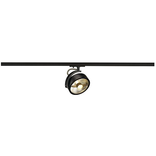 Strahler KALU TRACK QPAR111 Leuchtenkopf, GU10, max. 75W, inkl. 1-Phasen-Adapter, schwarz EEK: A++ - E
