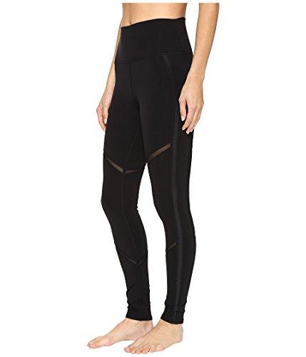 Alo Yoga Women's High Waist Continuity Legging, Black/Black Glossy/Black, L