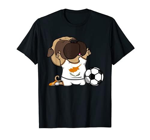 Pug Dog Cyprus Ftbol Fans Jersey Cypriot Football Lovers Camiseta