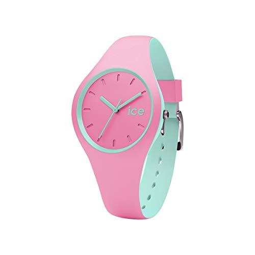 Ice-Watch - ICE duo Pink Mint - Rosa Damenuhr mit Silikonarmband - 001493 (Small)