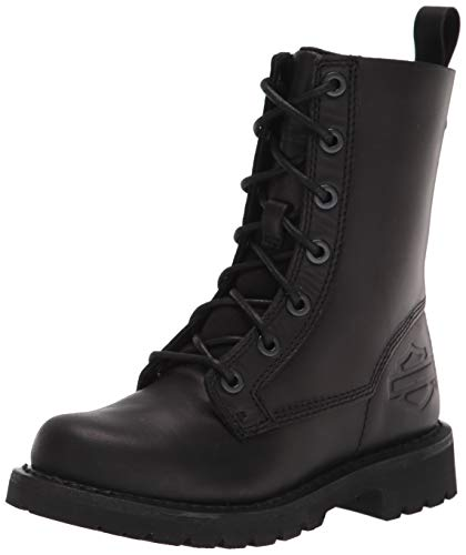 "HARLEY-DAVIDSON FOOTWEAR Women's Beason 7"" Lace Motorcycle Boot, Black, 7.5"