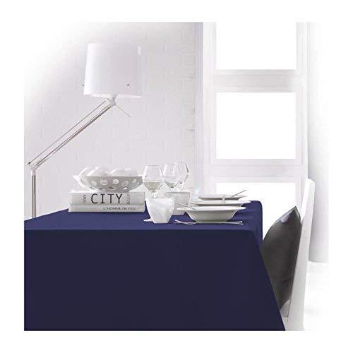 TODAY 256402 - Mantel de poliéster, 150x 250cm, poliéster, Ciel d'orage/Bleu Marine, 150x250 cm