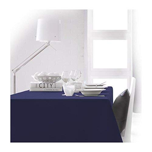 Today 256406 Nappe Polyester Ciel d'orage/Bleu Marine 150 x 250 cm