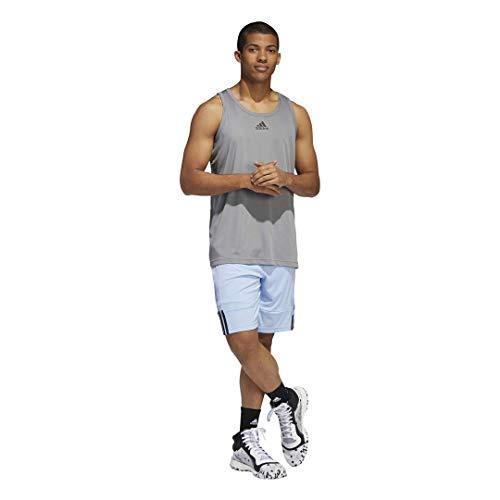 adidas - Camiseta sin Mangas para Hombre, Hombre, Jersey, F1411BBM352, Gris, L