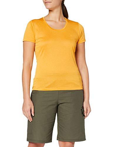SALOMON Agile SS tee W Camiseta, Mujer, Autumn Blaze/Citrus/Heather, s