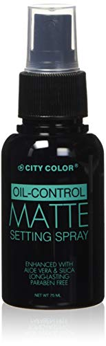 City Color Oil Control Face Matte Setting Spray, Fresh Rose Scent, 2.54 Fluid Ounce