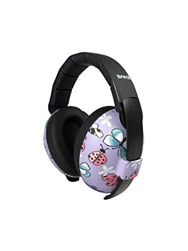 BANZ Ohrenschützer mit Schutz für Babys und Kleinkinder (Klassifizierung der Branchenführer für Lärmreduzierung und Lärmschutz) Schmetterling