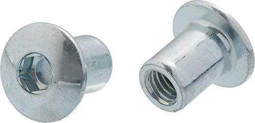 HEXATON Hülsenmuttern mit Flachrundkopf-Innensechskant M8 x 20 x 16 mm 50 Stück