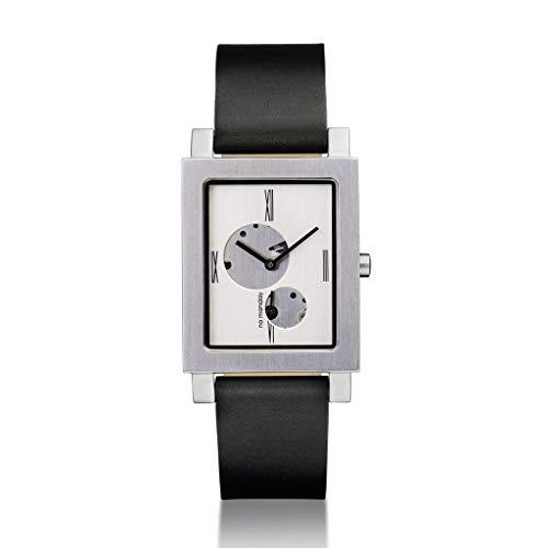 (ノーマンデー) NO Monday オープンハート シルバーレディース腕時計 長方形ダイヤル レザーストラップ