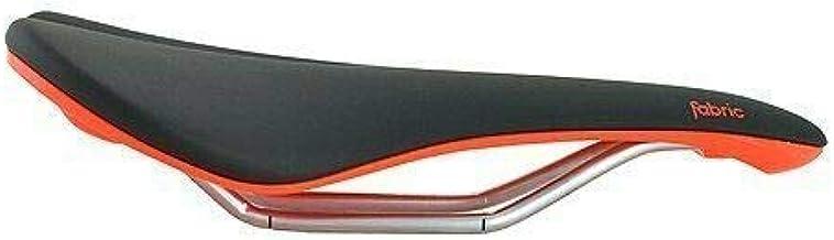 Fabric Scoop Elite Shallow Cro-Mo Rails Road MTB Saddle, Black and Red, VL1790