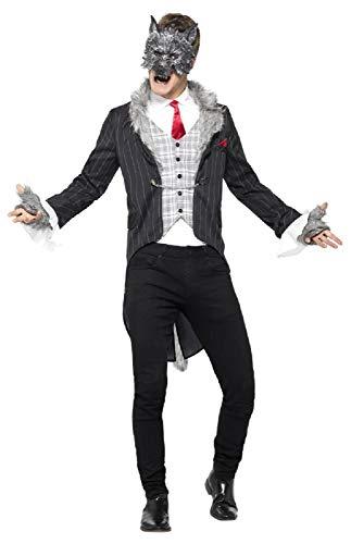 Fancy Me Herren Deluxe Big Bad Wolf gruselig gruselig gruselig Halloween Karneval Buchtag Kostüm Outfit