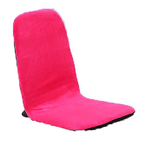 Schlafzimmer Faule Sofa Komfortable Home Office Meditation Lesen Fernsehen Gaming Einstellbare Faltbarer Boden Stuhl Hohe Zurück Home Kleine Wohnung Wohnzimmer (Color : Pink, Size : 38 * 88 * 8cm)