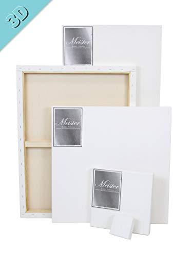 Paintersisters 3D Premium spieraam 6-delige voordeelset, robuust canvas 380 gr/m2 van 100% katoen, grenenhout FSC®